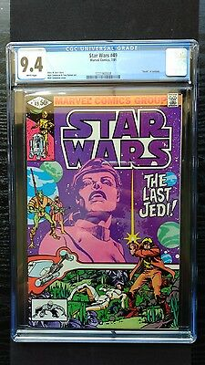 Star Wars #49 (Marvel 7/81) The Last Jedi CGC 9.4 White Pages (not 9.8 or cbcs)