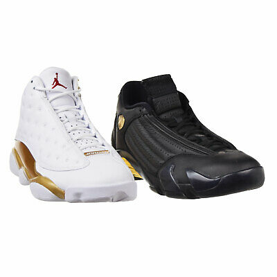 wholesale dealer 9b657 190f7 Air Jordan DMP Pack Men s Shoes Retro13 Retro14 XIII XIV Black White 897563- 900