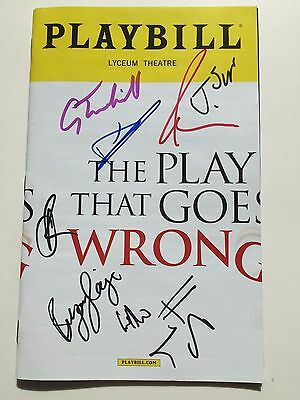 The Play That Goes Wrong - May 2017 Signed Broadway Playbill