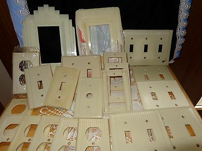 Vintage Outlet Covers &  Switch Plates Plastic Ivory  Over 20