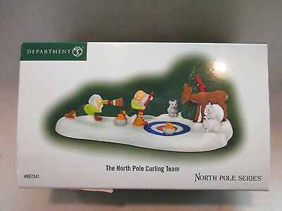 """Dept 56 North Pole Series """"The North Pole Curling Team""""  #56 807241"""