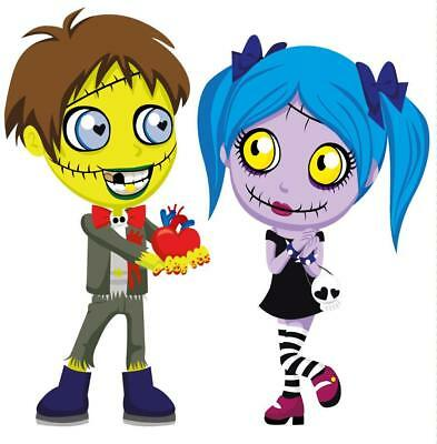 Creepy Zombie Love Movable Wall Stickers