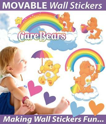 Rainbow Care Bears Movable Wall Stickers