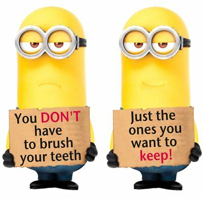 Minions Brush Your Teeth Movable Wall Stickers