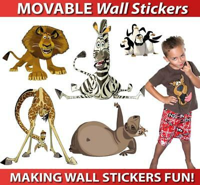 Madagascar Movable Wall Stickers