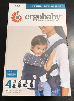 ErgoBaby Four Position 360 Carrier - Dusty Blue - NEW FREE SHIPPING
