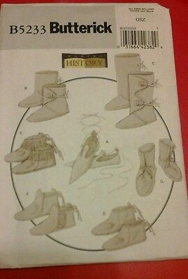 Renaissance PATTERN Historical Butterick 5233 Medieval SCA shoes boots moccasins