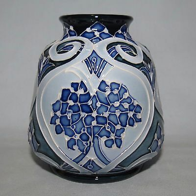 Moorcroft Forget Me Not Blue vase 198/3 Kerry Goodwin Boxed