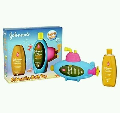 Johnsons Baby Submarine Shampoo 2x 300ml Bath Toy colour blue, pink, yellow new