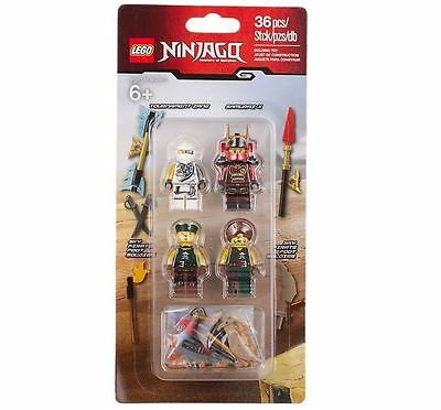 NEW LEGO Ninjago 853544 Accessory Set with 4 minifgures & weapons - over 35 pcs