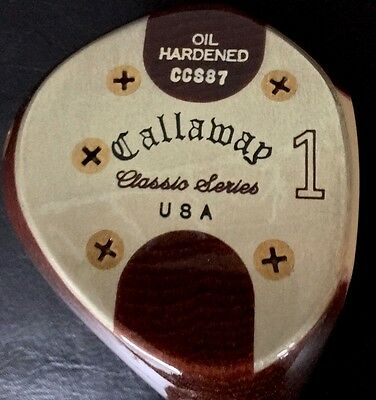 NOS Callaway Classic Series CCS87 Oil Hardened Persimmon Head Only RH Made in US