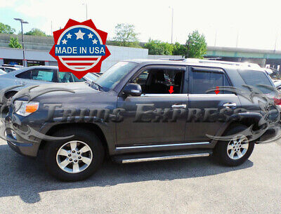 2010-2017 Toyota 4 Runner 4Pc Chrome Window Sill Trim Overlay Stainless Steel