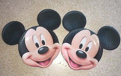 LOT Set of 2 Mickey Mouse Disney store plastic RARE mouse ear plates kids SUMMER