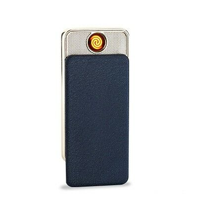 Rechargeable Ultra-Thin Touch Sensing Metal Flameless Windproof Electric lighter