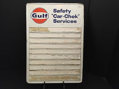 "Gulf Safety ""Car Check"" Services Sign"