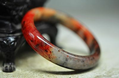 Beautiful Chinese old jade hand carved bracelet kd1