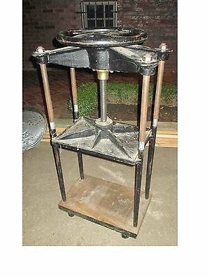 ANTIQUE BOOK BINDING PRESS screw press hand book press overall
