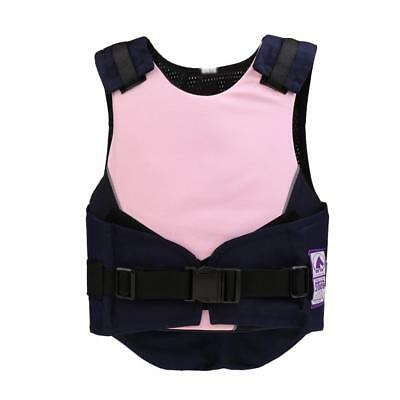 Kids Horse Riding Vest Safety Eventing Equestrian Body Protector Pink CS