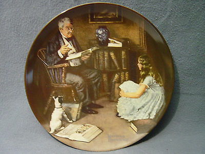 """Set Of 7 Assorted Norman Rockwell Knowles # Certified Collector Plates  8 1/2"""""""