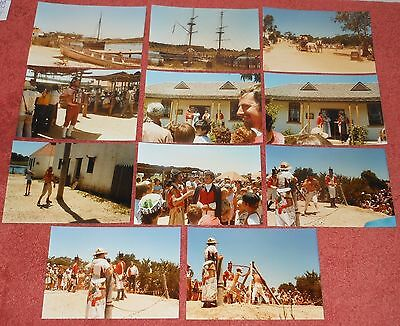 11 X 1990's ORIGINAL PHOTOGRAPHS PHOTOS OLD SYDNEY TOWN, SOMERSBY, NSW