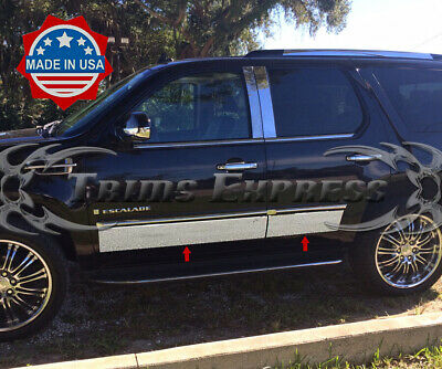 """Stainless Steel 4/"""" Wide Rocker Panel 8PC Fits Cadillac Escalade 4-Door SUV 01-06"""