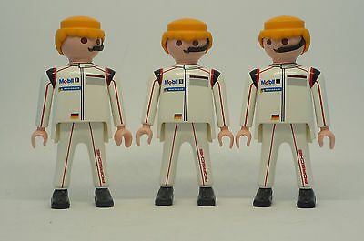 Playmobil J-85 Garage 3x Men Figures Porsche Mechanic Driver City Action