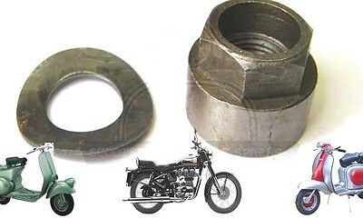 Lambretta Gp 150 Gp 200 Sx Flywheel Nut & Spring Washer @aud