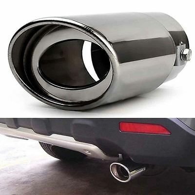 Universal Rear Car SUV Stainless Steel Exhaust Pipe Tip Muffler Straight