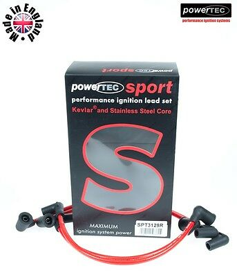PowerTEC Sport Red 8mm Ignition Leads Cable Wire HT Mazda RX-8 RX8 13B Coil 03-