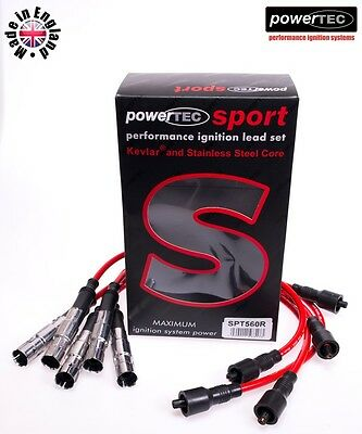 PowerTEC Sport 8mm Ignition HT Leads Set Audi 80 Coupe Cabriolet 2.6 2.8 ABC AAH