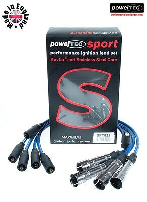 PowerTEC Sport 8mm Ignition Cable Wires Audi 100 a6 C4 80 B4 inc.quattro 2.0 ABK