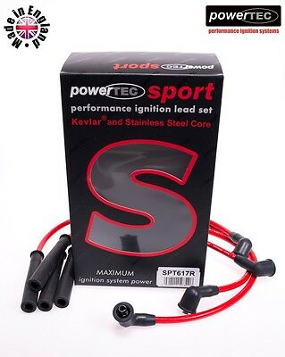 PowerTEC Sport 8mm Ignition HT Lead Wire Cable Set Nissan Terrano 2.4 4x4 KA24E