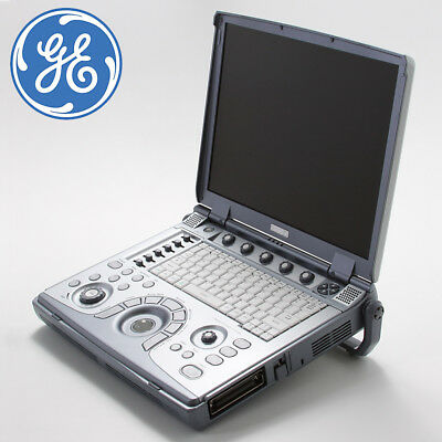 GE LOGIQ E - Ultrasound Scanner Machine System Portable +Convex Transducer Probe