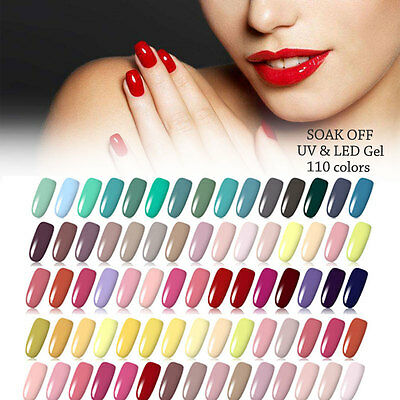 110 Colors Nail Art Soak Off LED UV Gel Polish Paint Draw Varnish Manicure 5ml