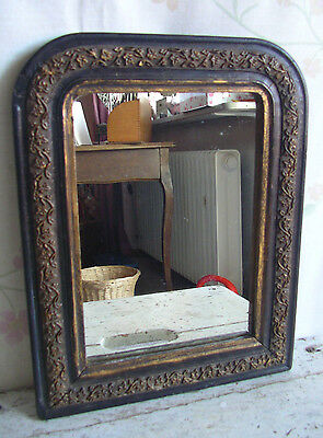 antiker mini spiegel biedermeier 1860 frankreich holz gold wandspiegel mirror eur 199 90. Black Bedroom Furniture Sets. Home Design Ideas