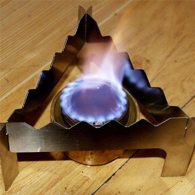 Alcohol Burner Stove Bracket Stand Triangle Rack For Outdoor Camping Picnic Cook