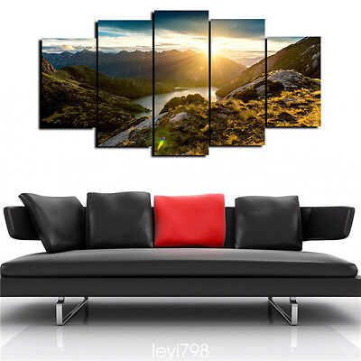 5 Piece Sunrise Modern Home Wall Decor Canvas Picture Art HD Print Painting
