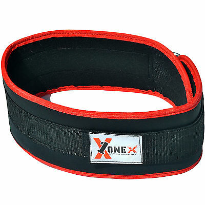 "ProWeight Lifting Belts Fitness Gym Workout Neoprene 6"" Wide Support Brace Black"