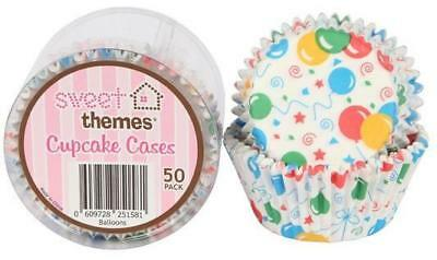 Balloons Cupcake Cases  - 50 Pack
