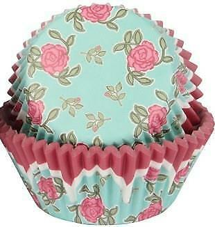 Roses Cupcake Cases  - 50 Pack
