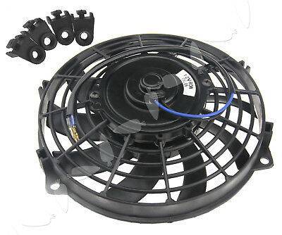 12V Radiator Fan 9 Inch  80W Cooling Cooler Fan w/Mounting For Universal Car
