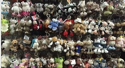 More Deisgn Plush 10cm Nici Animal Characters Soft Plush Bean Bags/Key-Ring New
