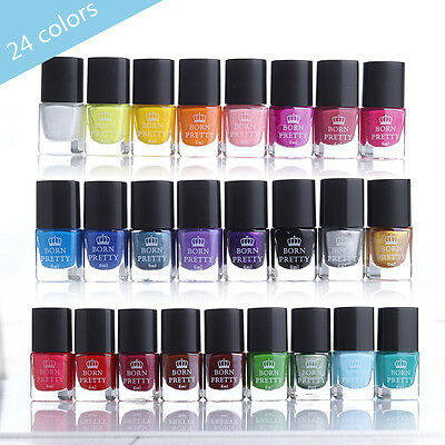 Born Pretty Nail Art Stamping Polish Painting Varnish Manicure Black White Gold