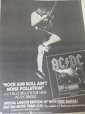 "Ac/dc  ""rock N Roll Aint Noise Pollution""  1980 Single Advert From Back In Black"