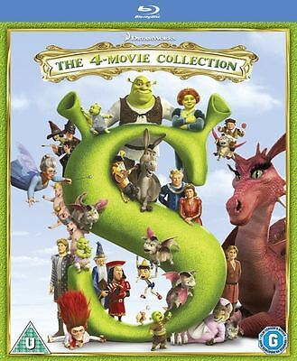 Shrek 1 2 3 & 4: The Whole Story - Complete Box Set Collection | New | Blu-ray