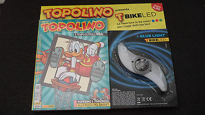 Topolino Libretto N.3209 Blisterato Con T Bike Led Blue Light Topo Luce - Nuovo