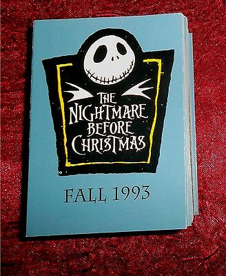 1993 THE NIGHTMARE BEFORE CHRISTMAS Trading Card FULL SET 90 CARDS SKYBOX MINT