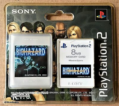 PS2 Biohazard Outbreak ( Resident Evil ) 8MB Memory Card, New & Factory Sealed