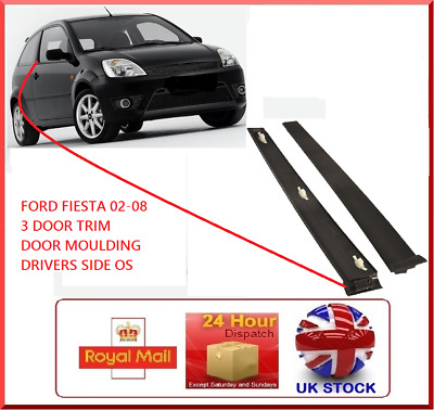*FORD Fiesta 3 DR 2001-2008 MK6 Front Drivers Door OS Trim Window New Panel O/S