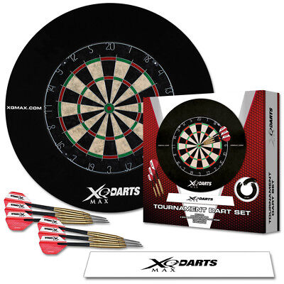 Dart Turnier Set Dartscheibe Dartpfeile Wurflinie Surround Steeldarts Dartboard